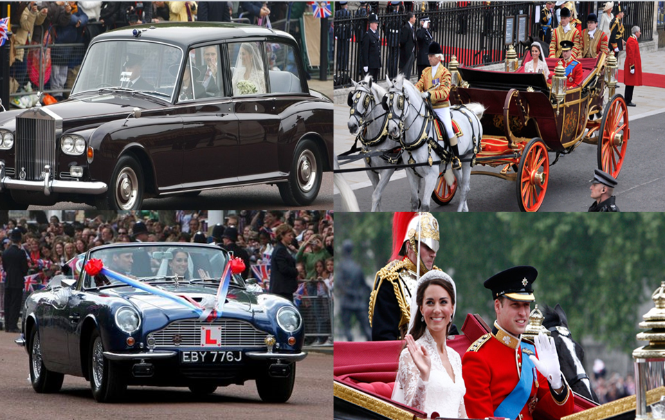 Voitures mariage Kate Middleton et Prince William